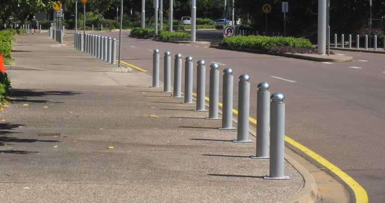 Fixed 125 NB Bollards with 20-02 Caps in Darwin