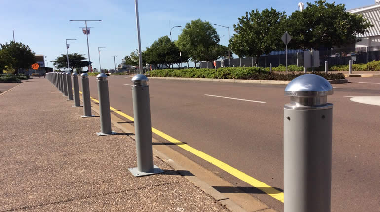 Fixed Bollards with 20-02 Caps in Darwin