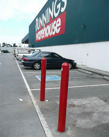 Fixed Bollards at Bunnings
