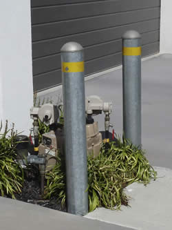 Gas Meter Bollards - Galvanized