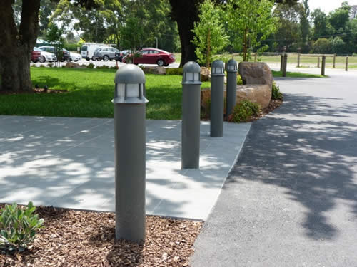 Light Bollards - safety and security