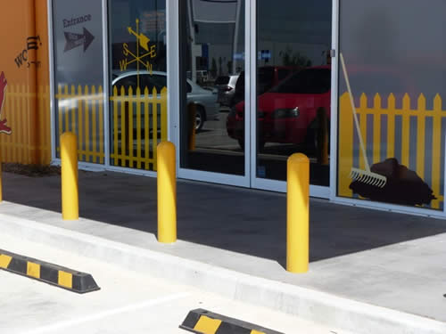 Fixed Bollards for ram raid protection