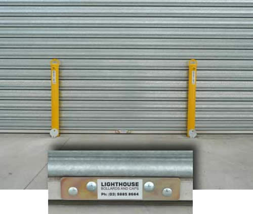 ... Roller door anchor - exterior view & Roller Door Anchors :: Lighthouse Bollards
