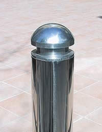 Stainless Steel Bollard closeup